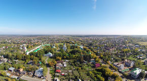 Alexandrovskaya Sloboda. Aerial view of the Alexandrovskaya Sloboda. It served as the capital of Russia for three months (from December 1564 to February 1565) Stock Photography