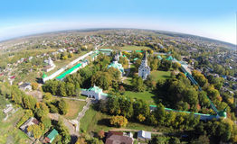 Alexandrovskaya Sloboda. Aerial view of the Alexandrovskaya Sloboda. It served as the capital of Russia for three months (from December 1564 to February 1565) Royalty Free Stock Photos
