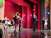Alexandru Arsinel na scenie teatr Constantin Tanase obraz stock