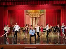 Alexandru Arsinel na scenie teatr Constantin Tanase zdjęcie stock