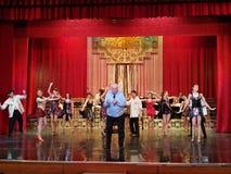 Alexandru Arsinel na scenie teatr Constantin Tanase fotografia royalty free