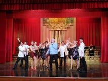Alexandru Arsinel na scenie teatr Constantin Tanase fotografia stock