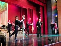 Alexandru Arsinel na scenie teatr Constantin Tanase obrazy royalty free