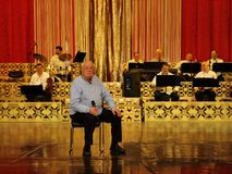 Alexandru Arsinel na scenie teatr Constantin Tanase obraz royalty free