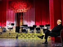 Alexandru Arsinel na scenie teatr magazyn Constantin Tanase obraz royalty free