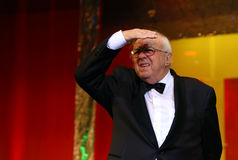 Alexandru Arsinel. Romanian actor Alexandru Arsinel is acting in a play at Constantin Tanase Theater, in Bucharest, Romania, Saturday, 20 December 2015 Royalty Free Stock Image