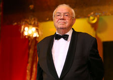 Alexandru Arsinel. Romanian actor Alexandru Arsinel is acting in a play at Constantin Tanase Theater, in Bucharest, Romania, Saturday, 20 December 2015 Stock Photos