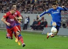 Alexandru Bourceanu et Eden Hazard Photo libre de droits