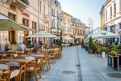 Alexandru Ioan Cuza街道在克拉约瓦,罗马尼亚 库存图片