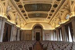 Alexandru Ioan Cuza Hall dans le palais du Parlement roumain images stock