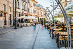 Alexandru Ioan Cuza street in Craiova, Romania Royalty Free Stock Photos