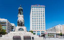 Alexandru Ioan Cuza and Unirea Hotel in Iasi, Romania Stock Photo