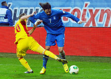 Alexandru Maxim and Georgios Samaras during FIFA World Cup Playoff Game Stock Image