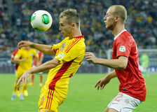 Alexandru Maxim and Semih Kaya in Romania-Turkey World Cup Qualifier Game Stock Photos