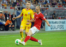 Alexandru Maxim and Semih Kaya in Romania-Turkey World Cup Qualifier Game Royalty Free Stock Image