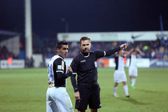 Alexandru Tudor referee and Banel Nicolita Royalty Free Stock Photos