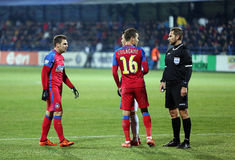 Alexandru Tudor referee. Alexandru Dan Tudor referee during Viitorul vs Steaua match Stock Image