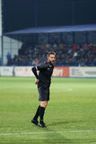 Alexandru Tudor referee. Alexandru Dan Tudor referee during Viitorul vs Steaua match Royalty Free Stock Photography