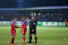 Alexandru Tudor referee and Guilherme Sityá Royalty Free Stock Images