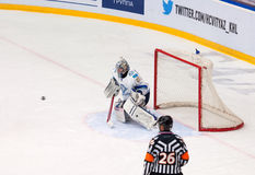 Alexei Ivanov (28) catch a puck Royalty Free Stock Photos