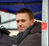 Alexei Navalny, capo di opposizione russa Immagine Stock