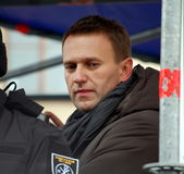Alexei Navalny, leider van Russische oppositie Royalty-vrije Stock Foto's