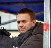 Alexei Navalny, leider van Russische oppositie Stock Afbeelding