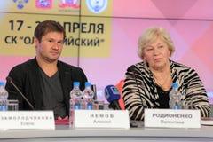 Alexei Nemov e Valentina Rodionenko Imagens de Stock