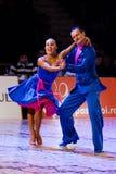 Alexei SILDE e Anna FIRSTOVA Jive Fotografia de Stock Royalty Free