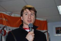Alexei Yagudin, olympischer Meister in der Abbildung Eislauf Lizenzfreie Stockbilder
