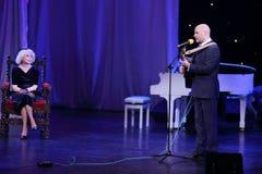 Alexey Kortnev sings at Ball Crystal Turandot Stock Photos
