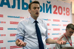 Alexey Navalny à Iochkar-Ola Photos libres de droits