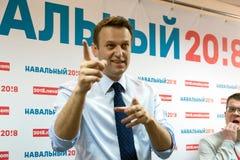 Alexey Navalny à Iochkar-Ola Images libres de droits
