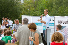 Alexey Navalny answers questions of voters. Moscow, 2013 Royalty Free Stock Images