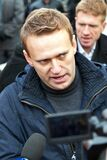 Alexey Navalny. Demonstration in Russia. Miting on the day of national unity in the Moscow