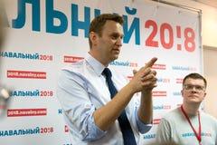 Alexey Navalny im Yoshkar-Ola Lizenzfreie Stockbilder
