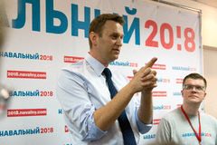 Alexey Navalny no Yoshkar-Ola imagens de stock royalty free