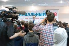 Alexey Navalny in Yoshkar-Ola Royalty-vrije Stock Foto's