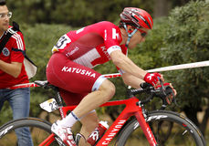 Alexey Tsatevich of KATUSHA Team Royalty Free Stock Photos
