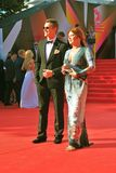 Alexey Vorobyov and Vera Sotnikova at Moscow Film Festival Royalty Free Stock Photos