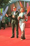 Alexey Vorobyov and Vera Sotnikova at Moscow Film Festival Stock Photo