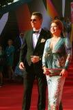 Alexey Vorobyov and Vera Sotnikova at Moscow Film Festival Stock Photography