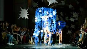 Alexey ZALEVSKIY presentation during Ukrainian Fashion Week 2015, Kiev, Ukraine, stock footage