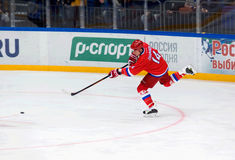 Alexey Zhamnov (14) attack Stock Photo