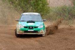 Alexey Zotov drives a Subaru Impreza Royalty Free Stock Image