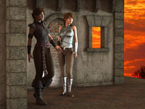 Alexia and Thea -- Fantasy Female Medieval Ranger Scouts - Image 2 Stock Photography