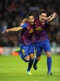 Alexis et Xavi de FC Barcelone Photographie stock