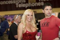 Alexis Golden alla convenzione di AVN Fotografia Stock