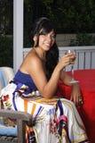 Alexis mit Wein-Glas Lizenzfreie Stockfotografie