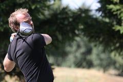 Alexis Noudeu am Golf Prevens Trpohee 2009 Lizenzfreie Stockbilder